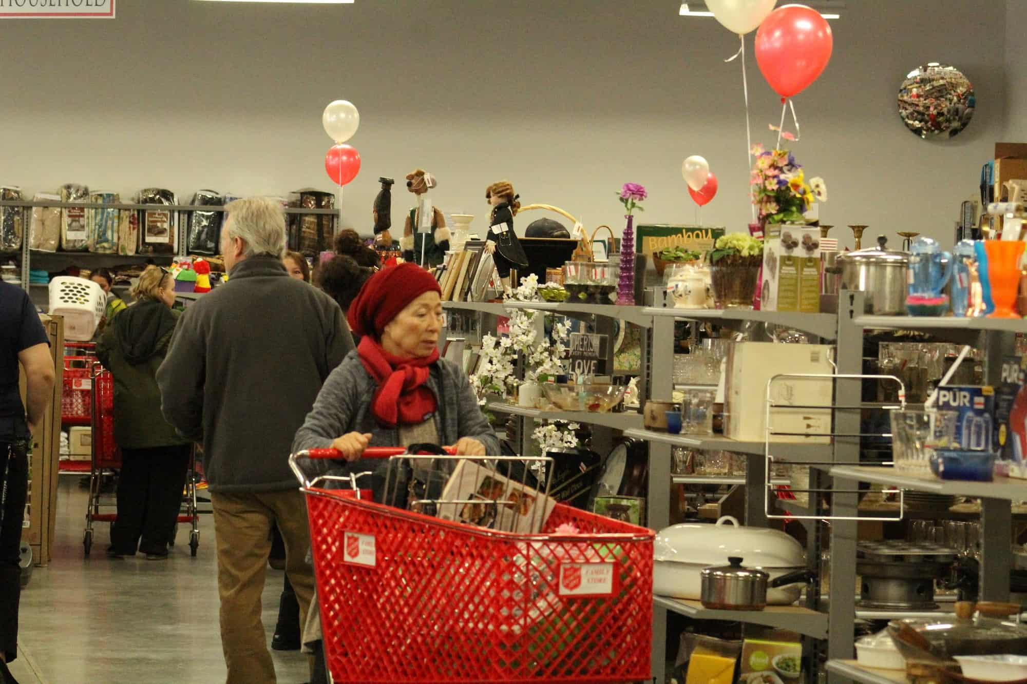 Shoppers line up at Salvation Army in Carson City